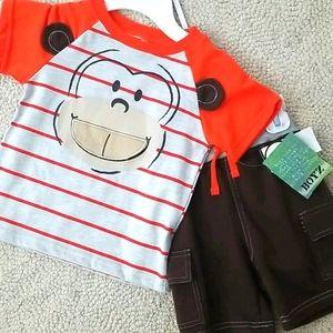 Monkey Shorts & Tee set